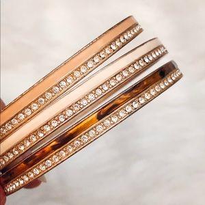 Gorgeous Lia Sophia Enamel Bangle Bracelet Trio
